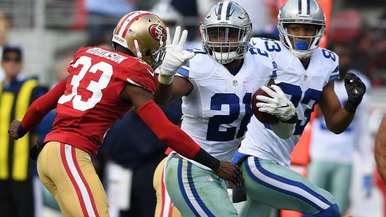 Elliott empata marca en anotaciones en e triunfo de los Cowboys
