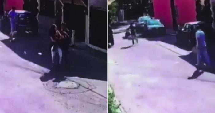Dos sujetos asaltan a joven en la GAM con un Pitbull
