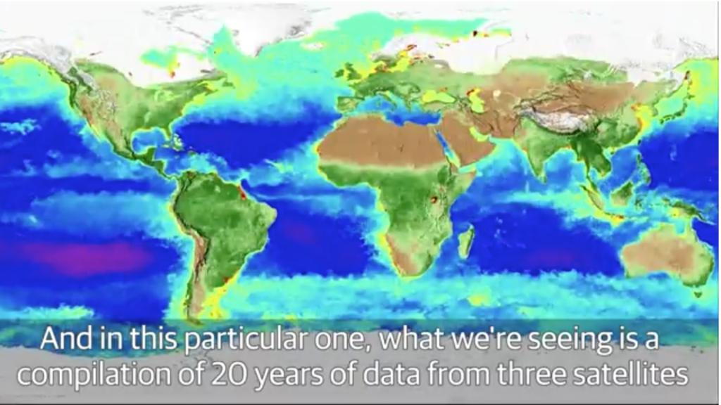 La NASA compiló en tres minutos, 20 años del Planeta Tierra