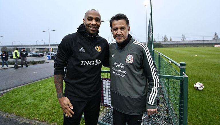 Thierry Henry estuvo presente en el entrenamiento de la Selección de México