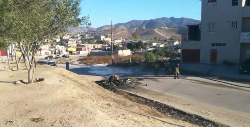 Se registra desplome de un helicóptero oficial en Tijuana