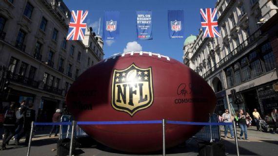 NFL anuncia los juegos a disputarse en Londres durante 2018