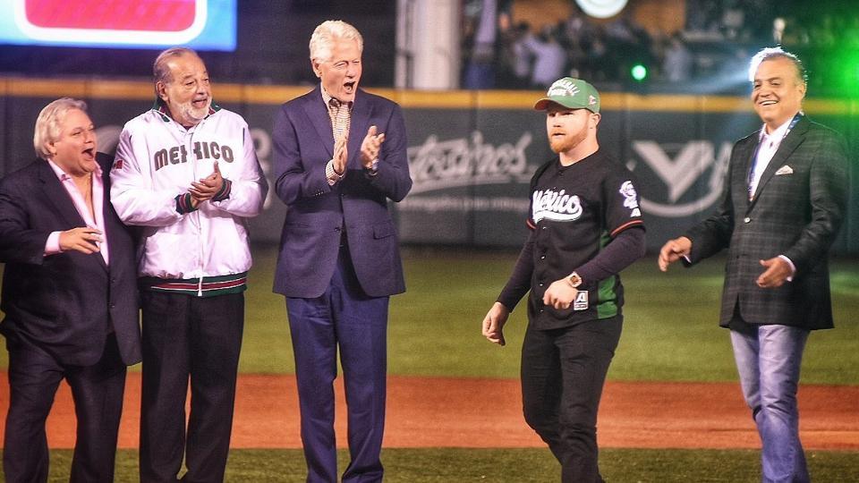 Bill Clinton, Carlos Slim y el Canelo Álvarez inauguran Jalisco 2018