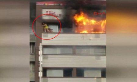 hotel en llamas