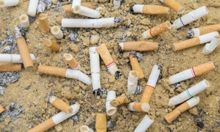 Contaminación, colillas, cigarros, medio ambiente, popotes