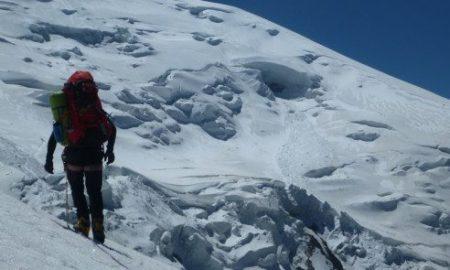 Alpinista, Rusia, congelada