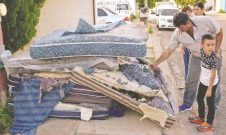 Sinaloa, damnificados, colchones