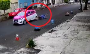 taxi, choque, CDMX