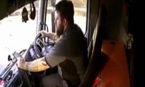 celular, autobús, muerte, Escocia