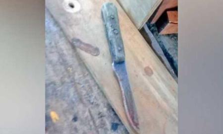 cuchillo, violencia, niño, apuñalar