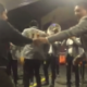 Michoacán, gasolinera, fiesta, banda