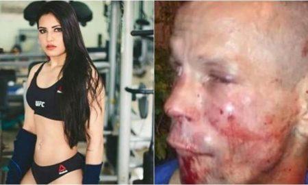 UFC, luchadora, ladrón, asalto, Brasil