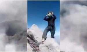 México, volcán cráter, video