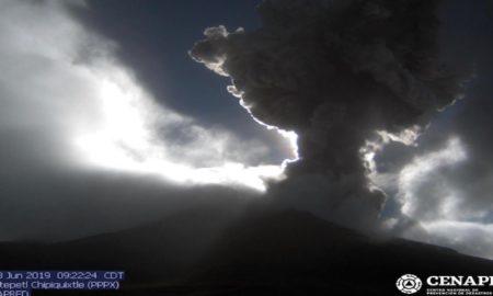 Popocatépetl, Estado de México, Morelos, explosión, ceniza