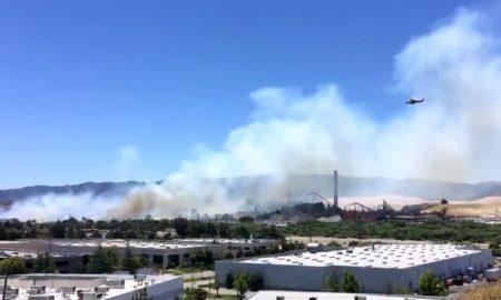 incendio forestal, California, Los Ángeles, EEUU, Six Flags