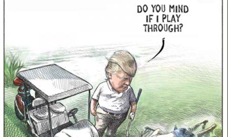caricaturista, donald trump, burlas, migrantes, estados unidos
