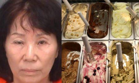 mujer, helados, postres