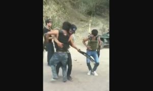 menores, armas largas, bailan, video, viral, narco