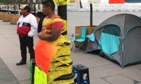 viral, video, bombero, protesta, manifestación zócalo