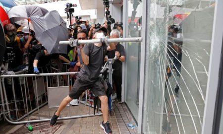 manifestaciones, manifestantes, hong kong, china