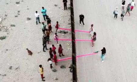 video, juegos infantiles, méxico, estados unidos, muro fronterizo