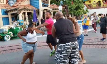 disneyland, pelea, viral, video