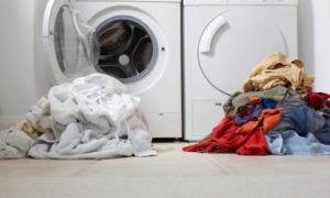 lavadora, niño, juego
