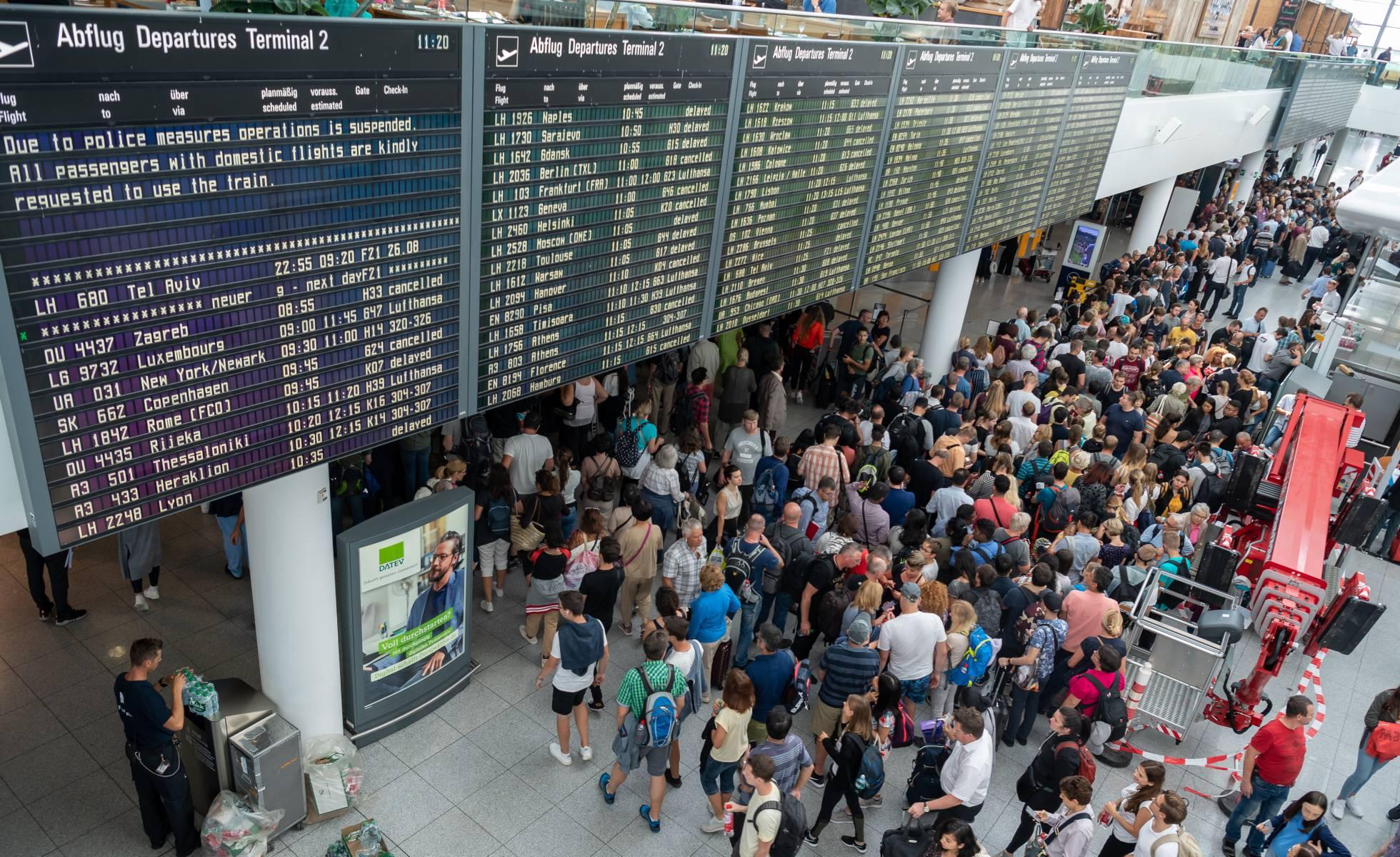 aeropuerto, Múnich, Alemania, vuelos, pasajeros, aviones