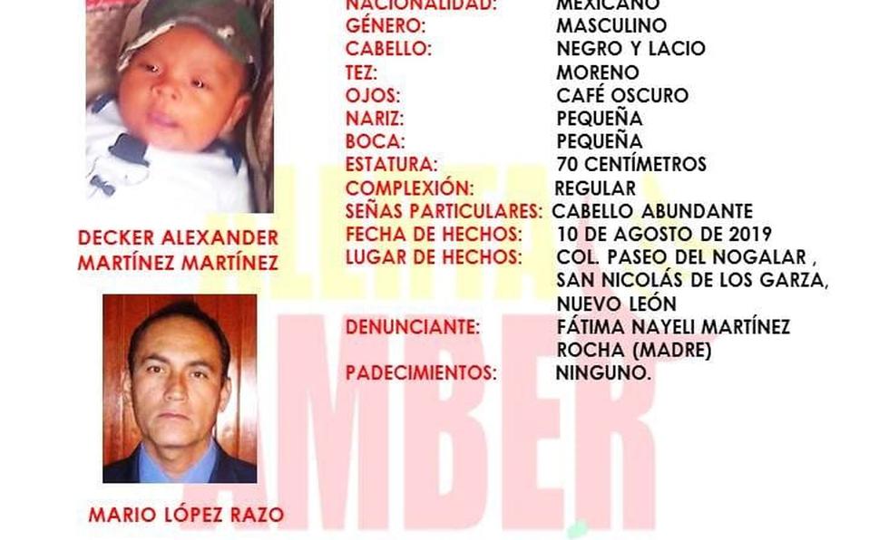 secuestro, menor de edad, bebé, monterey, alerta amber