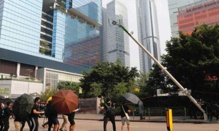 hong kong, protestas, manifestantes, cámaras de vigilancia, video