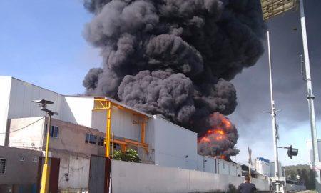 incendio, morelia, michoacán, ciudad industrial, fábrica