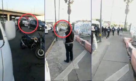 persecución, ciudad de méxico, tiroteo, balacera, policías