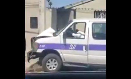 tijuana, taxista, choque, vehículo, taxi, ebriedad