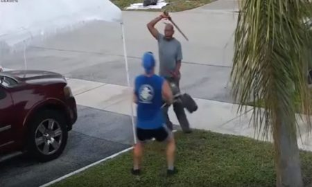 viral, video, espada, pelea, florida