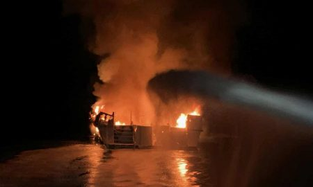 Santa Bárbara, California, incendio, barco