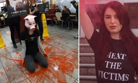 activistas, veganos, protesta, McDonald's