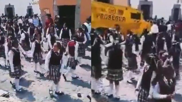 camioneta, desfile, desfile patrio, niños, edomex