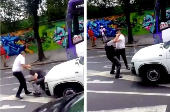 chofer, Tlalpan, video, viral, pelea, golpes