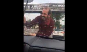 parabrisas, ataque, Ciudad de México, vehículo, video, viral
