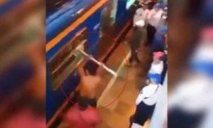 metro, ciudad de méxico, borracho, video, viral