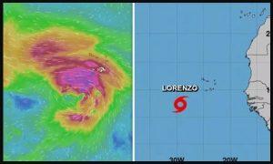 huracán, Lorenzo, África, clima