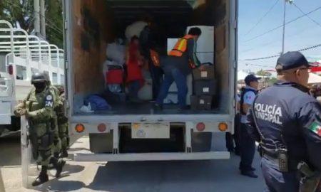 Mercado Unión, Puebla, decomiso, Guardia Nacional, mercancía