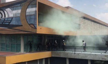 UNAM, rectoría, manifestación, estudiantes
