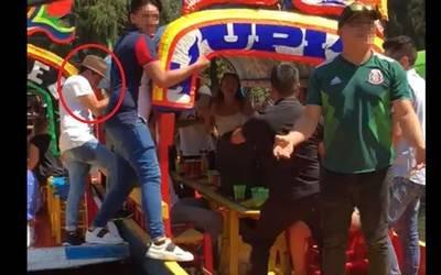 Xochimilco, trajineras, accidente, video, viral