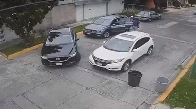 camioneta, brazos, hija, robo