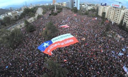 Chile, Santiago, marcha pacífica, manifestación, protesta