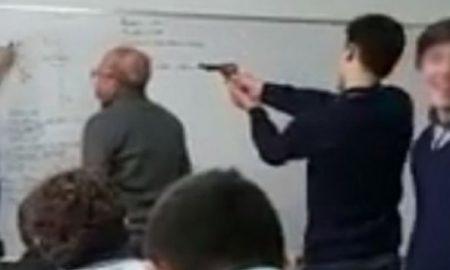 pistola, clase, alumno, docente, argentina