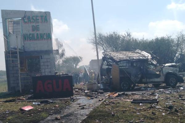 explosión, pirotecnia, Estado de México, Zumpango