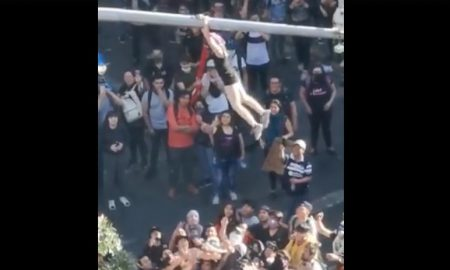 Chile, Santiago, manifestante, video, viral