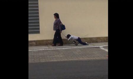 mochila, escuela, niño